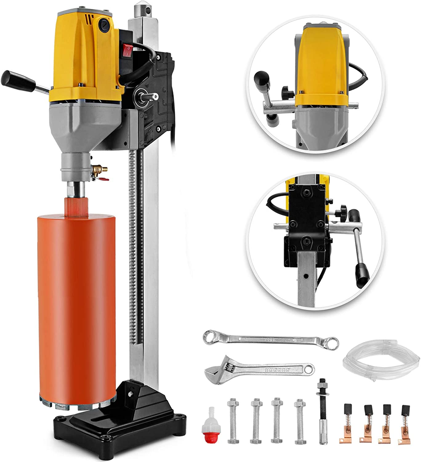 "6/"" Diamond Core Drill Concrete Drilling Machine with Stand /& Drill Bits 2180W"