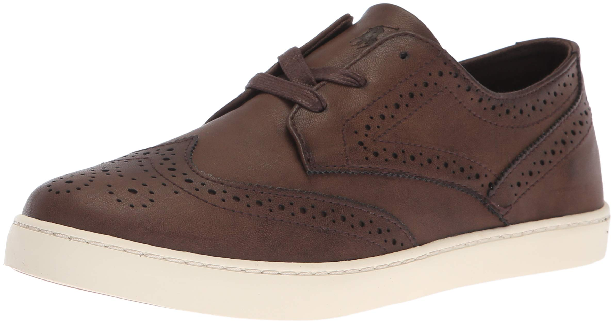 Polo Ralph Lauren Kids Boys' Alek Oxford Sneaker Chocolate Burnished M070 M US Toddler