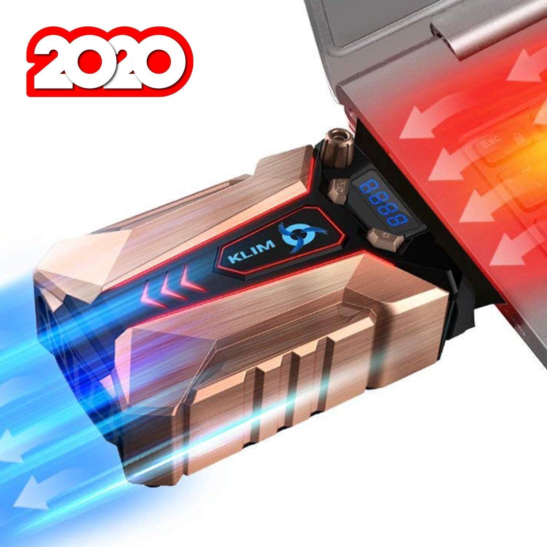 KLIM™ Cool + Base de Refrigeración para Portátil en Metal - La Más Potente - USB con Aspiradora de Aire para Enfriamiento Inmediato - Base Refrigeradora para el Recalentamiento [Nueva Versión 2020 ]