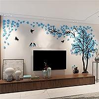 DIY 3D Enorme Menory Árbol Pegatinas de Pared Cristal de Acrílico Marco de Fotos Decoraciones para el Hogar Artes (Azul…