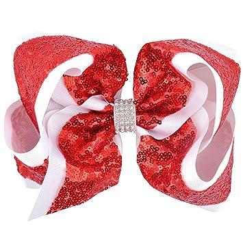 Rhinestone Sequins Hair Clips Girl Headwear  Bowknot Hairpin  Glitter Bow
