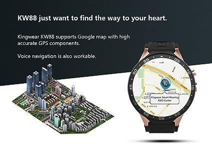 kingwear kw88 pantalla AMOLED Android 5.1 3 G Smartwatch ...