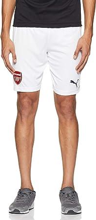 Escudo oficial del Arsenal FC en la pernera derecha,Felino de PUMA bordado en la pernera izquierda,1