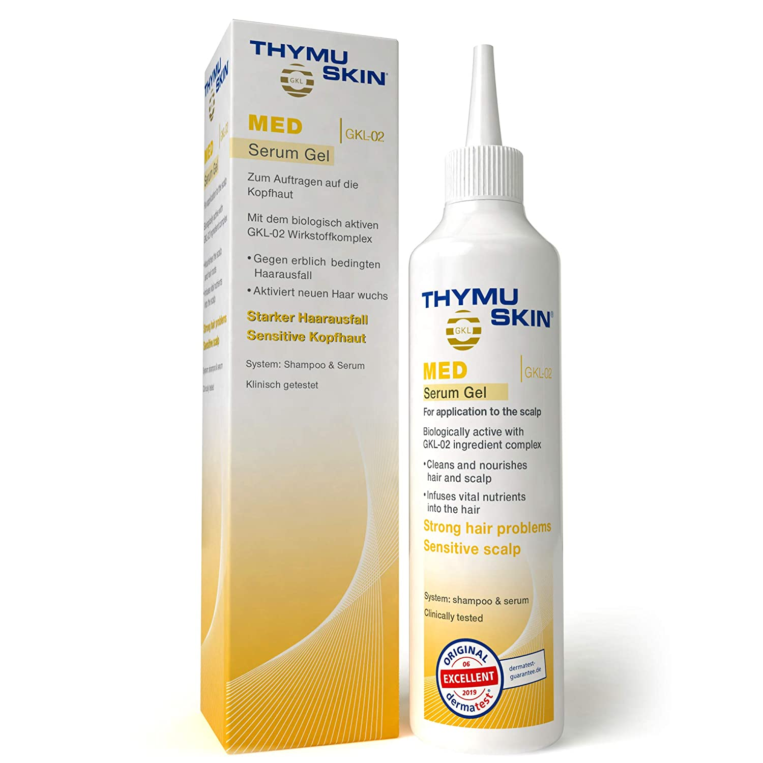 THYMUSKIN Med - Hair Care Peptides Serum (Step #2) for Hair Growth Due to Hair Loss - for Sensitive Hair and Scalp Conditions Where Balding is Already Present