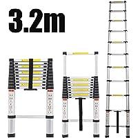 Portable Heavy Duty Multi-Purpose Telescopic Ladder with Slip-Proof Feet Renewed Handvoll Telescoping Ladder 17.5ft Aluminum Extension Folding Ladder