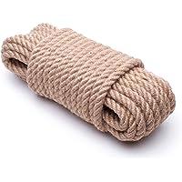 SFS Fabrik JUTE Touw 6mm - 40mm Koord Touwen Natuurlijke hennep Hennep touw Tug of war Jute Barrier touw Leuning…