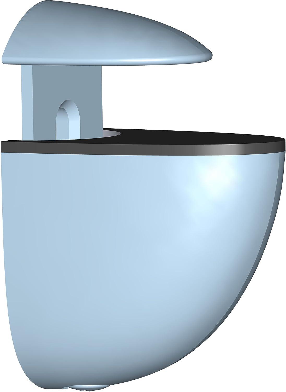 2 St/ück Element System Regalbodentr/äger Midi 5 Farben wei/ß Glas-Holzbodentr/äger 11051-00000