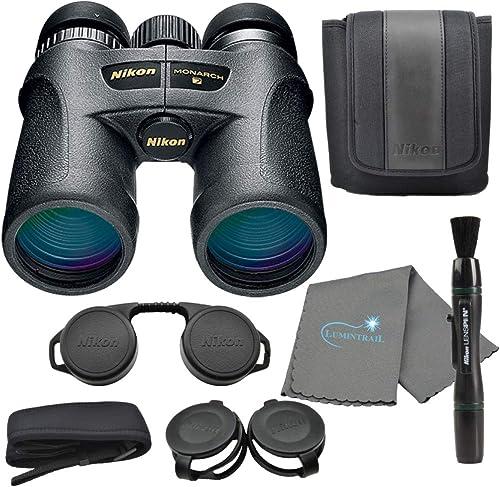 Nikon Monarch 7 10×42 Binoculars 7549 , Black Bundle with a Nikon Lens Pen and Lumintrail Cleaning Cloth