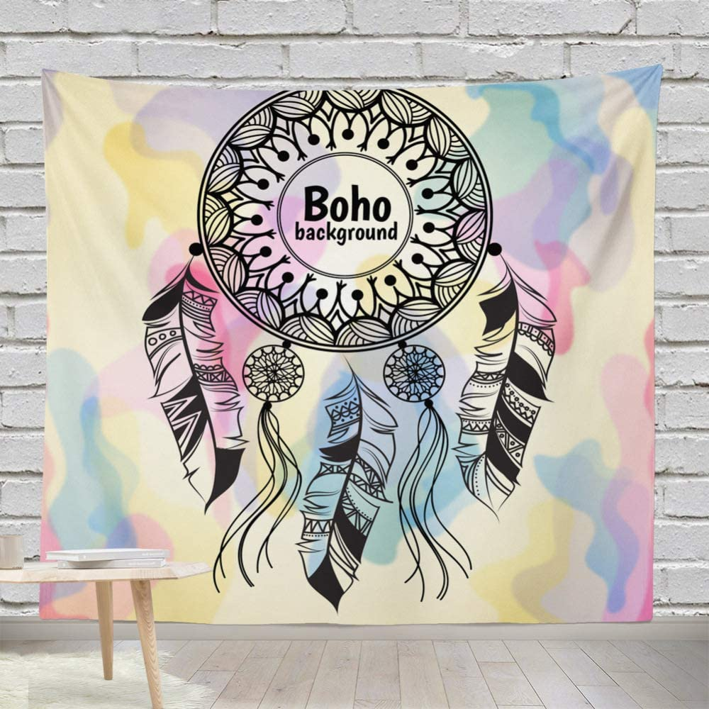 mmzki Tapiz hogar pájaro atrapasueños Tapiz Decorativo Pintura Colgante de Pared 9 150 * 130