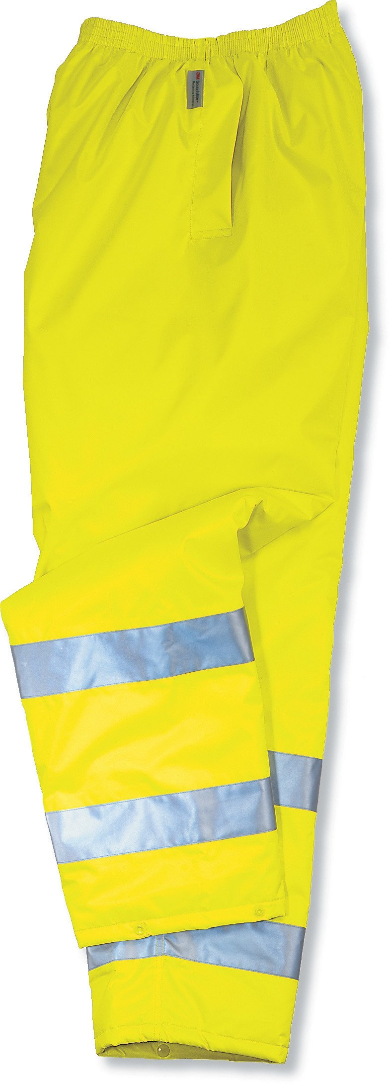 Ergodyne GloWear 8915 ANSI High Visibility Lime Reflective Safety Rain Pants, Small