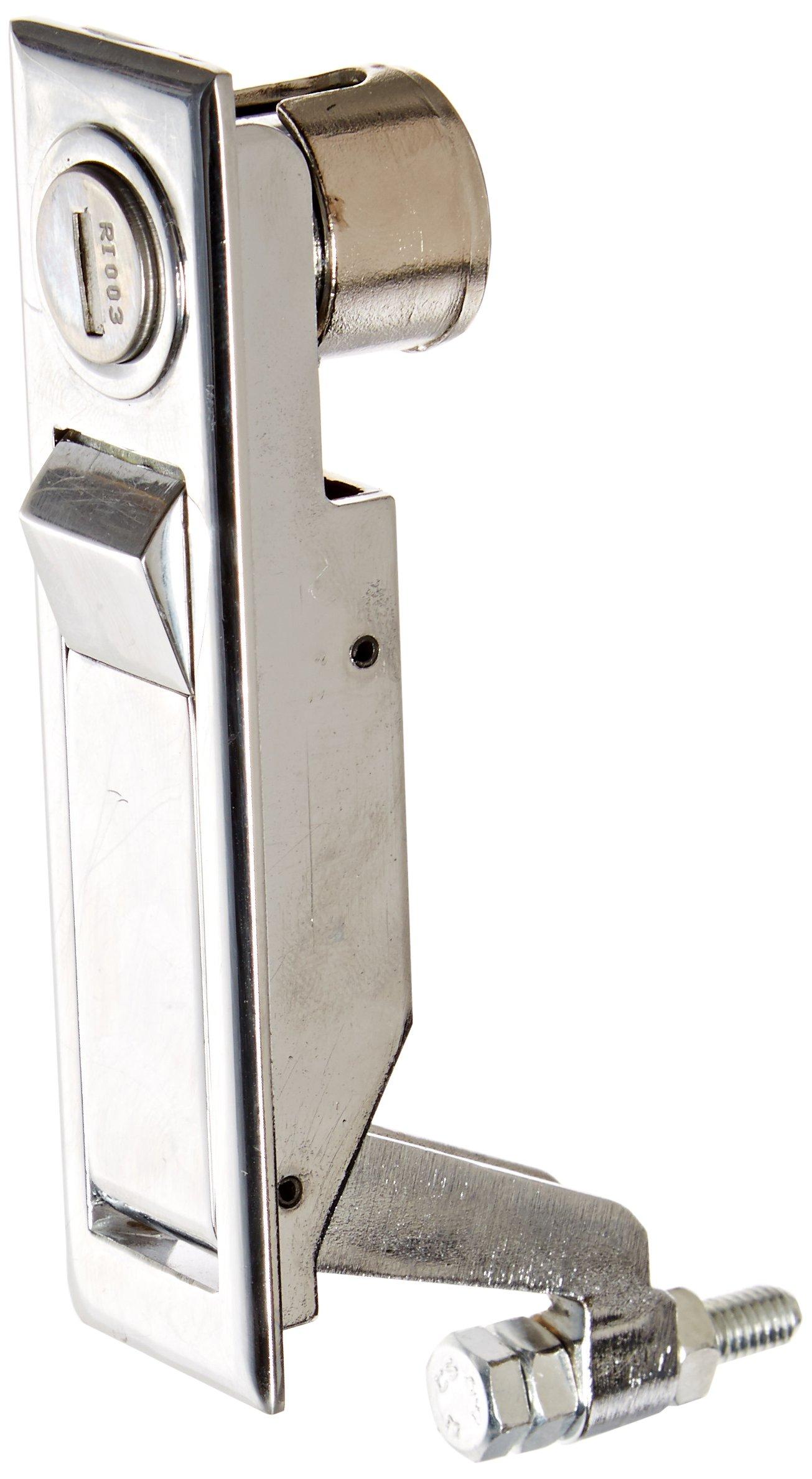 Sandusky Lee TLH-C Recessed Push Button Locking Handle, Chrome