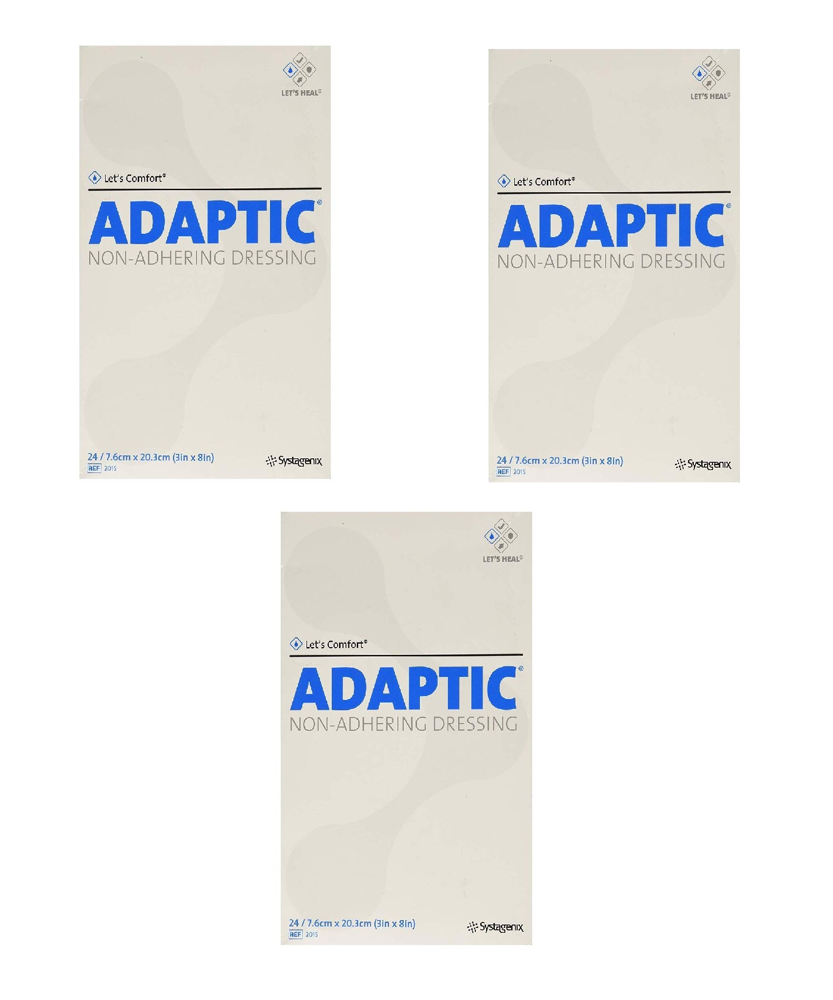 SYSTAGENIX WOUND MNGMNT Adaptic Non-Adhering Dressing, 24 Count (3 Pack) by SYSTAGENIX WOUND MNGMNT