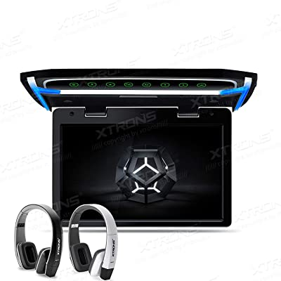XTRONS 10.2 Inch Digital TFT Screen 1080P Video Car Overhead Player Roof Mounted Monitor HDMI Port New Version IR Headphones(Black&White): MP3 Players & Accessories