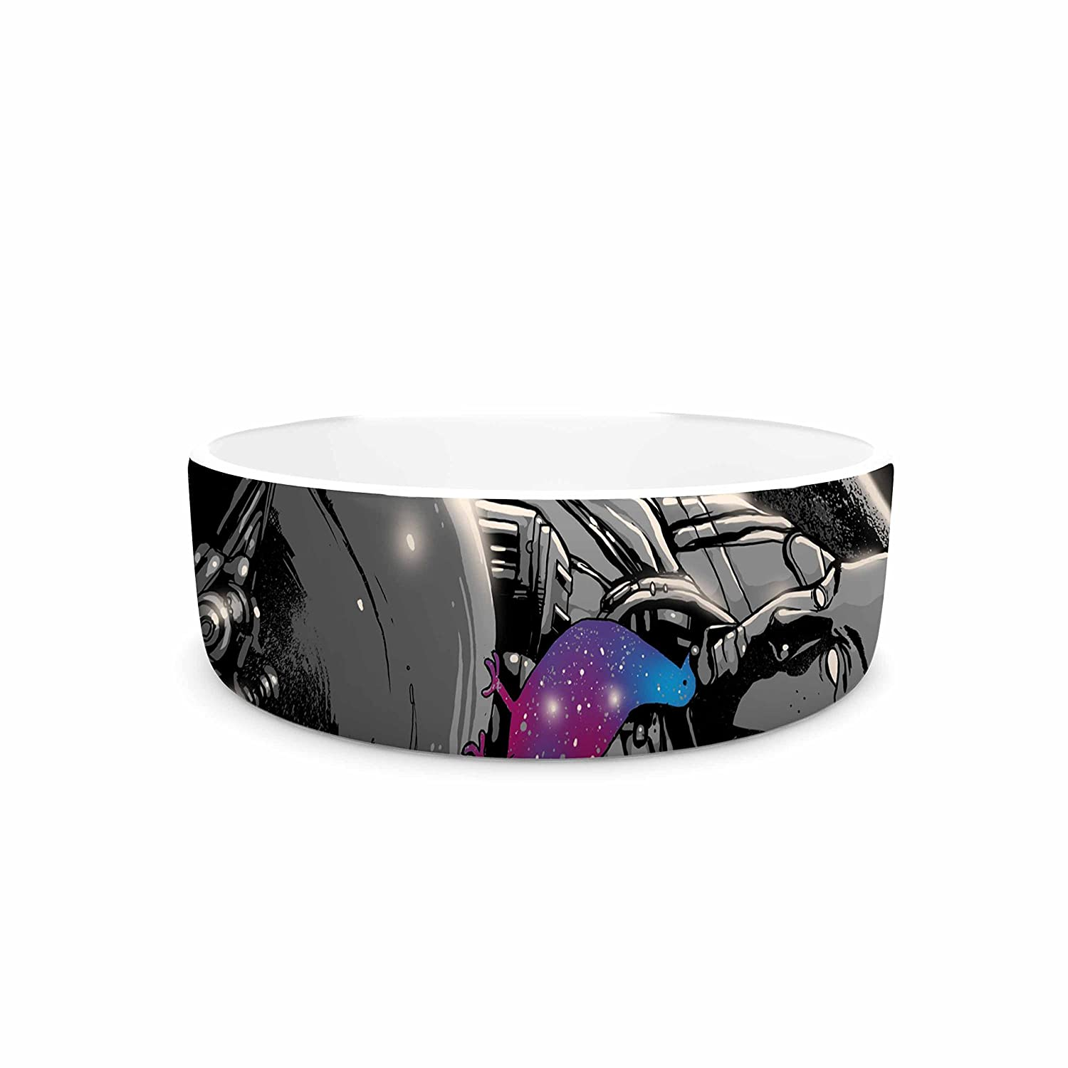 7\ KESS InHouse Digital Carbine a Touch of Whimsy  Black Fantasy Pet Bowl, 7