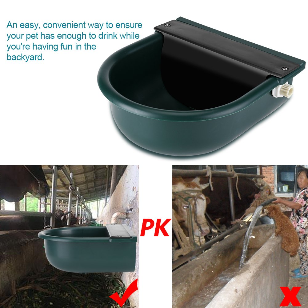GOTOTOP Automatic Water Bowl with Drainage Hole for Dog Cattle Horse Float Valve Sheep Goat Calf Sow Large Animal Water by GOTOTOP (Image #2)