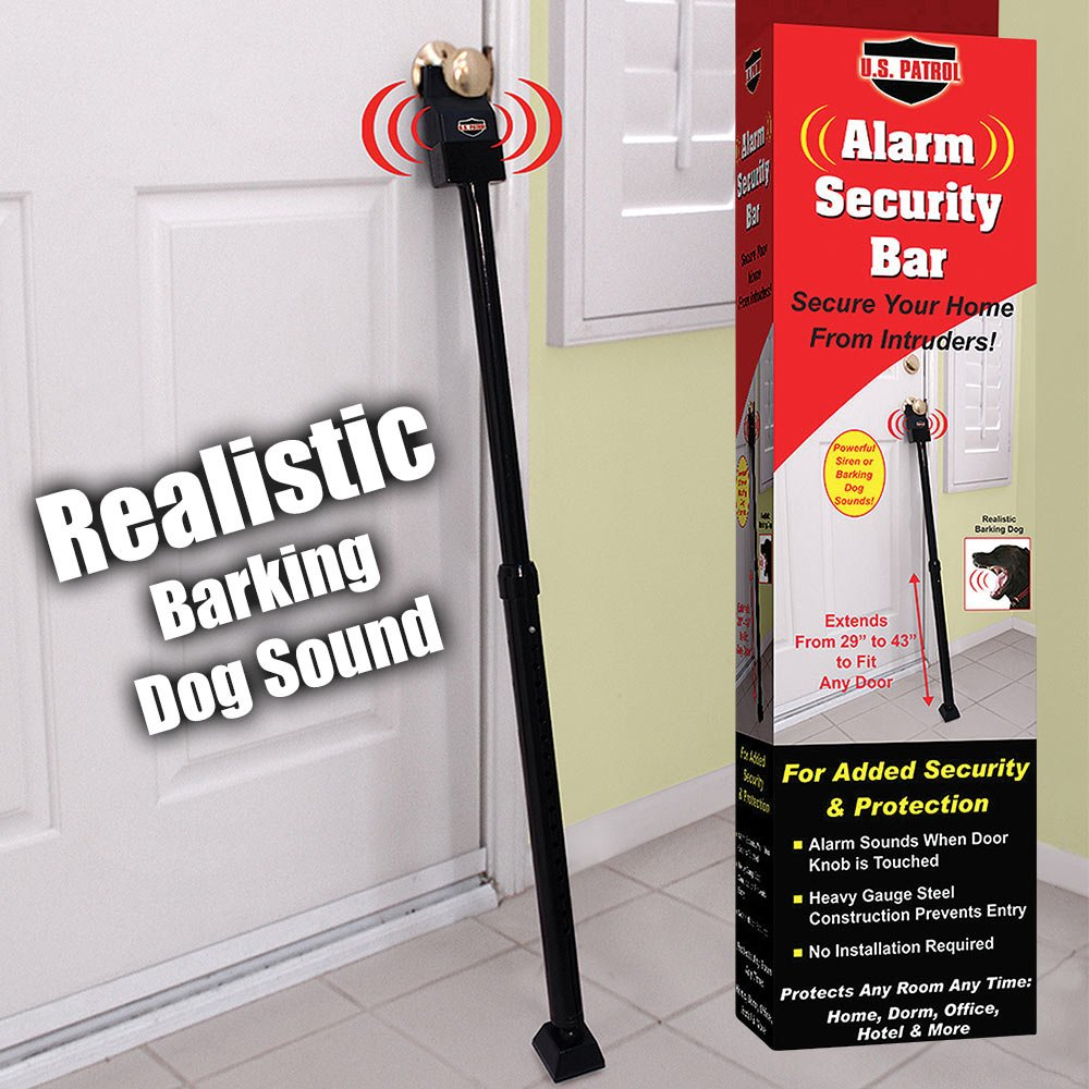 U.S. Patrol JB5322 Alarm Security Bar extends from 29'' to 43''