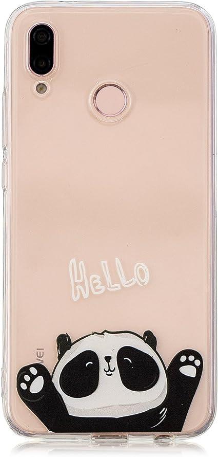 FroFine Cover Huawei P20 Lite, Custodia P20 Lite Silicone Trasparente TPU Morbida Case, Chiaro Flessibile Gel Sottile [Anti-Graffio e Cristallo] ...
