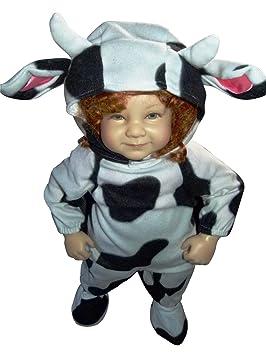 F79 tamaño de 9-12 meses traje de la vaca para los bebés y ...