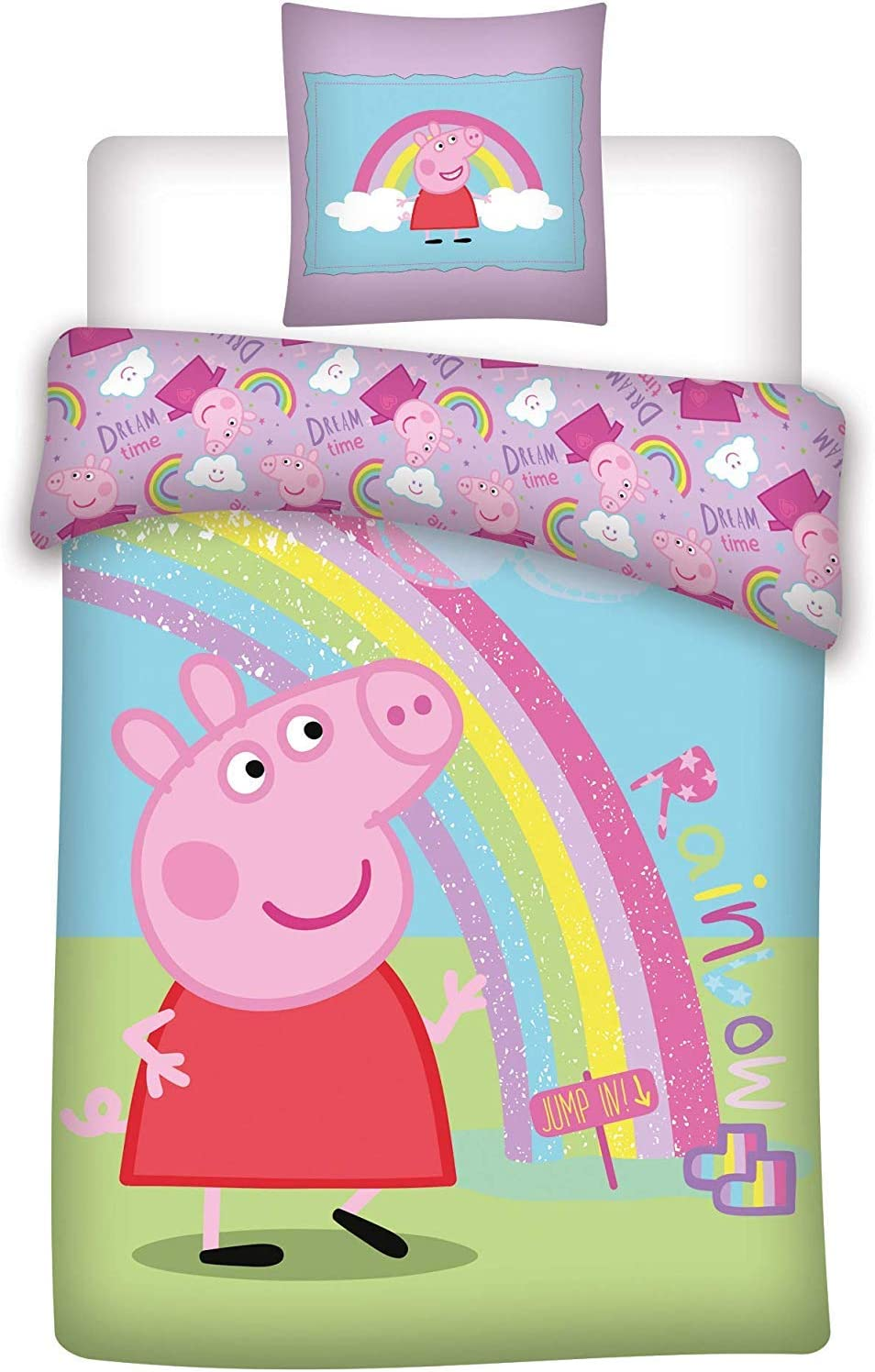 AYMAX S.P.R.L Peppa Pig - Juego de Cama Infantil (Funda de edredón ...