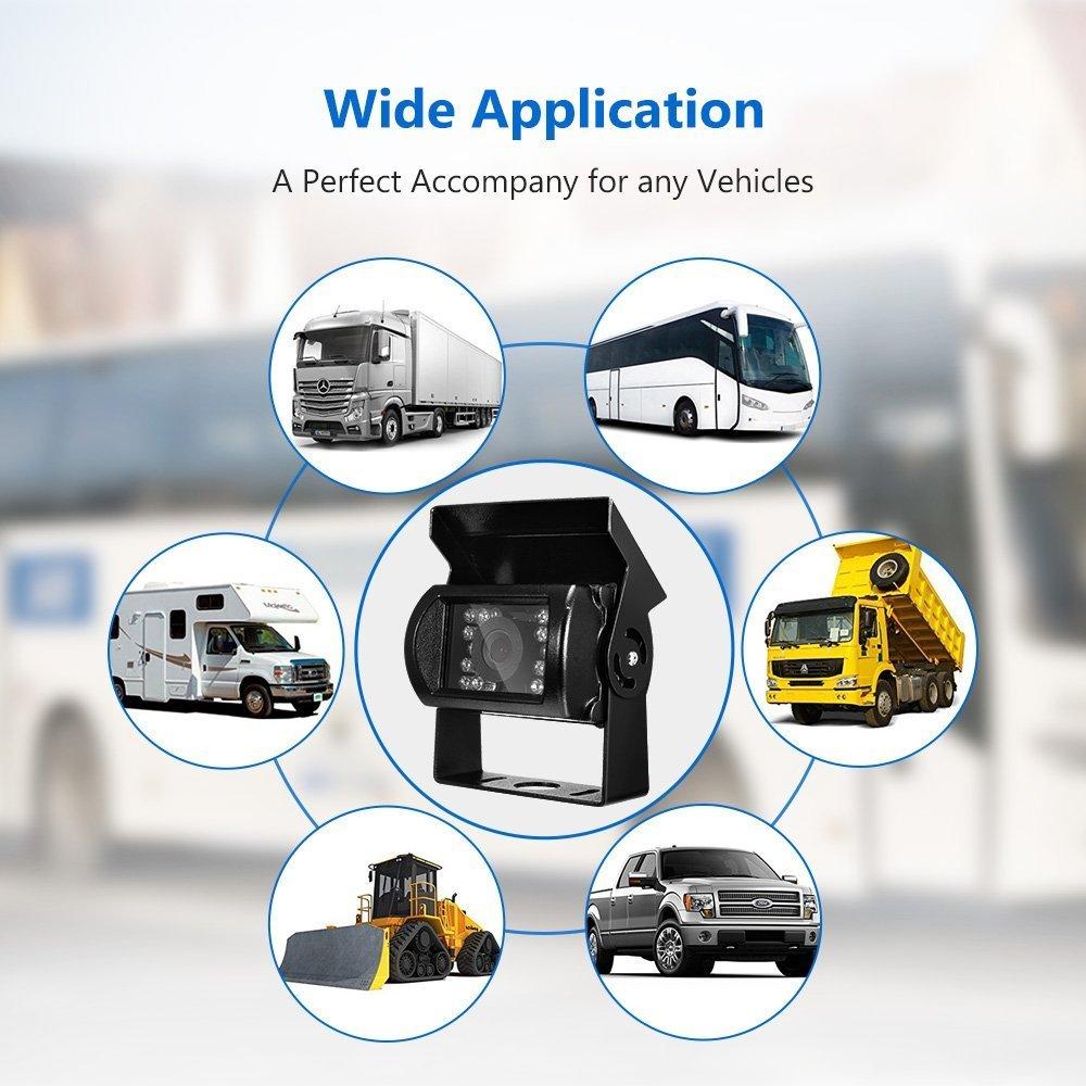 /Étanche Vision nocturne bus etc Angle de vue de 120/° camion Camera de recul universel HD avec aide au stationnement pour voiture Cam/éra de recul DAFROH