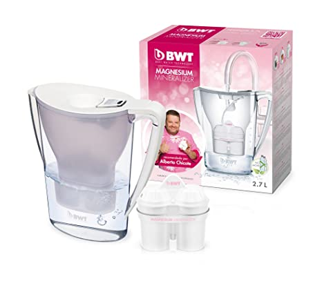 BWT Penguin Electrónica – Jarra filtradora de agua con magnesio 2,7 L Blanco