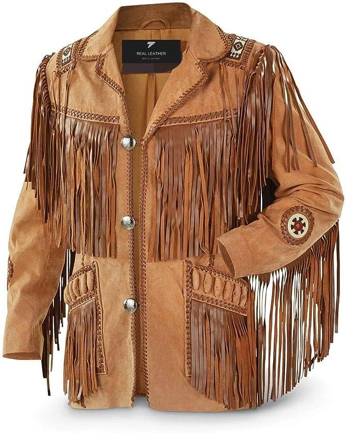 SRHides Mens Fashion Suede Leather Buttoned Coat