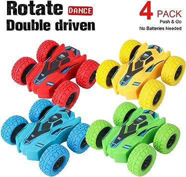 Amazon.com: Paquete de 4 juguetes de coche con fricción ...