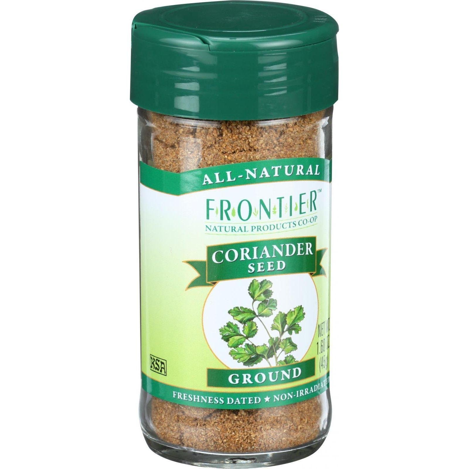 Frontier Coriander Seed Ground, 1.6-Ounce Bottle
