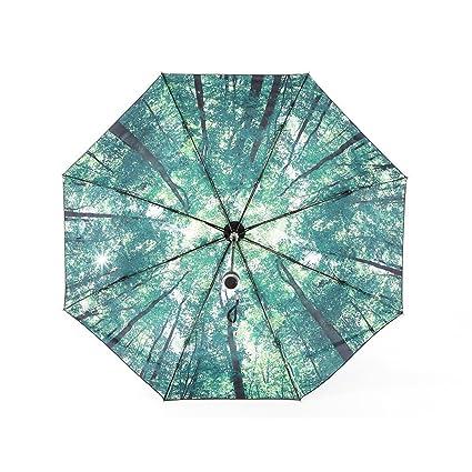 Tianqi Artistic Revestimiento negro Anti-UV Protección Solar Paraguas de Viaje Plegable UPF50 – Caminar