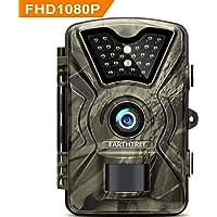 """EARTHTREE Wildkamera,14MP 1080P Full HD Jagdkamera Low Glow Infrarot 20m Nachtsicht Überwachungskamera 2.4"""" LCD IP66 Wasserdichte Nachtsichtkamera Wildkamera Fotofalle"""
