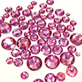 400 pcs 2mm - 6mm Resin Rose Pink round Rhinestones Flatback Mix SIZE 14-facet (High Quality)