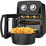 KitchenUp 12 QT Air Fryer Oven Combo, 10-in-1 Auto-Stirring Hot Cooker with Visualized Window, Dishwasher Safe Frying Accesso