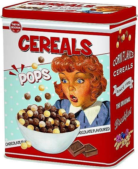 R2S 093 - Caja de Cereales, Metal, 19 x 10,5 x 24 cm, Multicolor: Amazon.es: Hogar