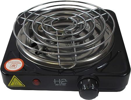 DUM AD-C102 - Hornillo eléctrico de carbón para cachimba (1000 W), Color Negro: Amazon.es: Hogar