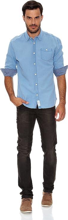 Pepe Jeans London Camisa Hudson Azul Claro L: Amazon.es: Ropa ...
