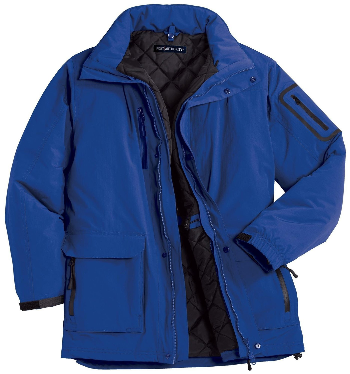Port Authority Men's Waterproof Heavyweight Hooded Parka_Royal_X-Small by Port Authority