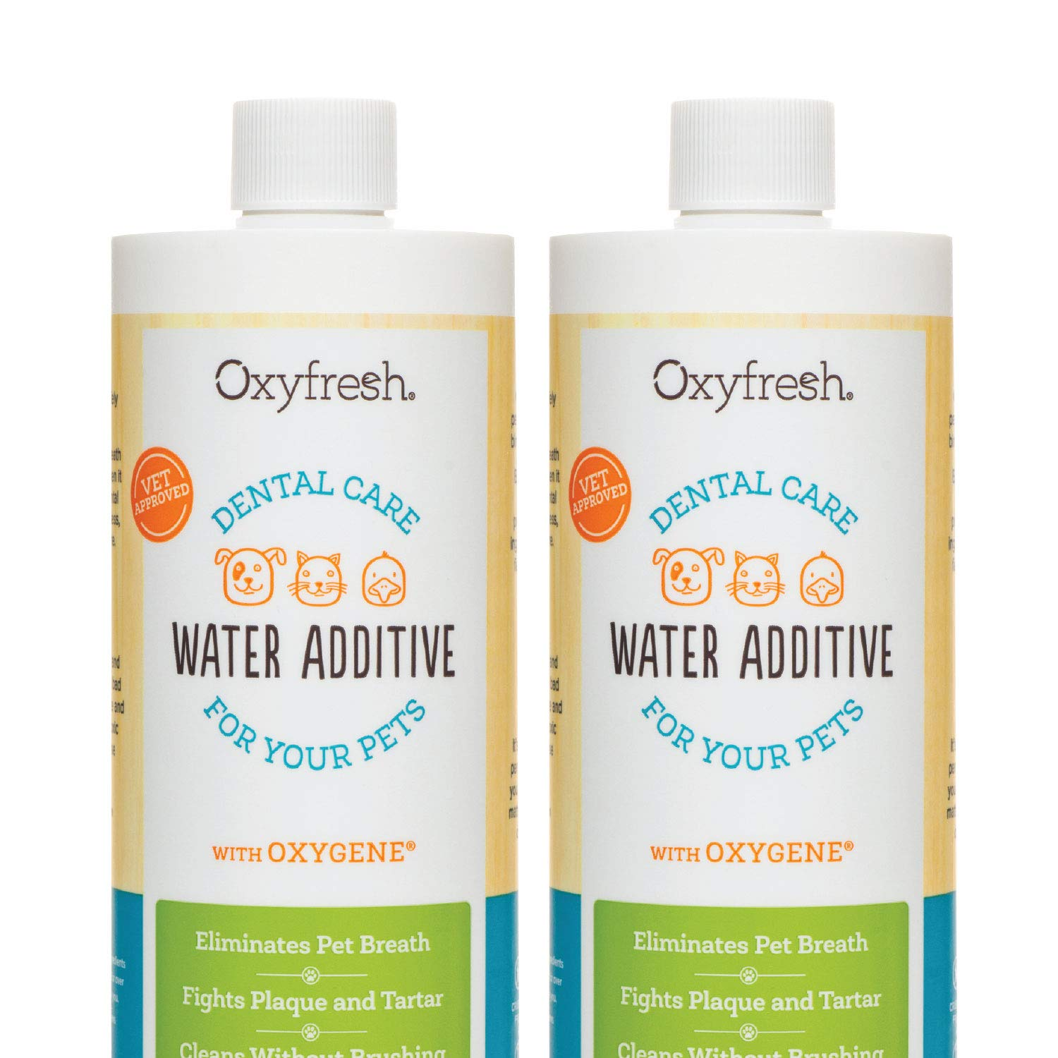 Oxyfresh Premium Pet Dental Care Solution Pet Water Additive: Best Way to Eliminate Bad Dog Breath and Cat Breath - Fights Tartar and Plaque - So Easy, Just Add to Water.