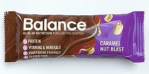 Balance Bar--Caramel Nut Blast Nutrition Bars--Caramel Nut Flavored Protein Nutrition Bar--15g Protein--6-1.76oz. Bars