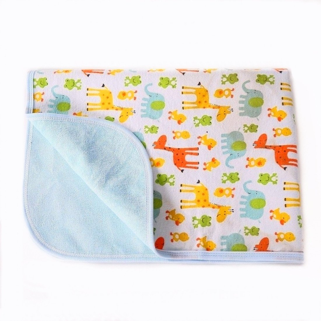 Portable Changing Pad Waterproof Diaper Change Mat Large Size Multi-function [Home & Travel] Mat Any Places Bed Play Stroller Crib Car Mattress Pad Cover (Frog & Giraffe, XL (27.56 x 47.2 Inch) JIAYUN