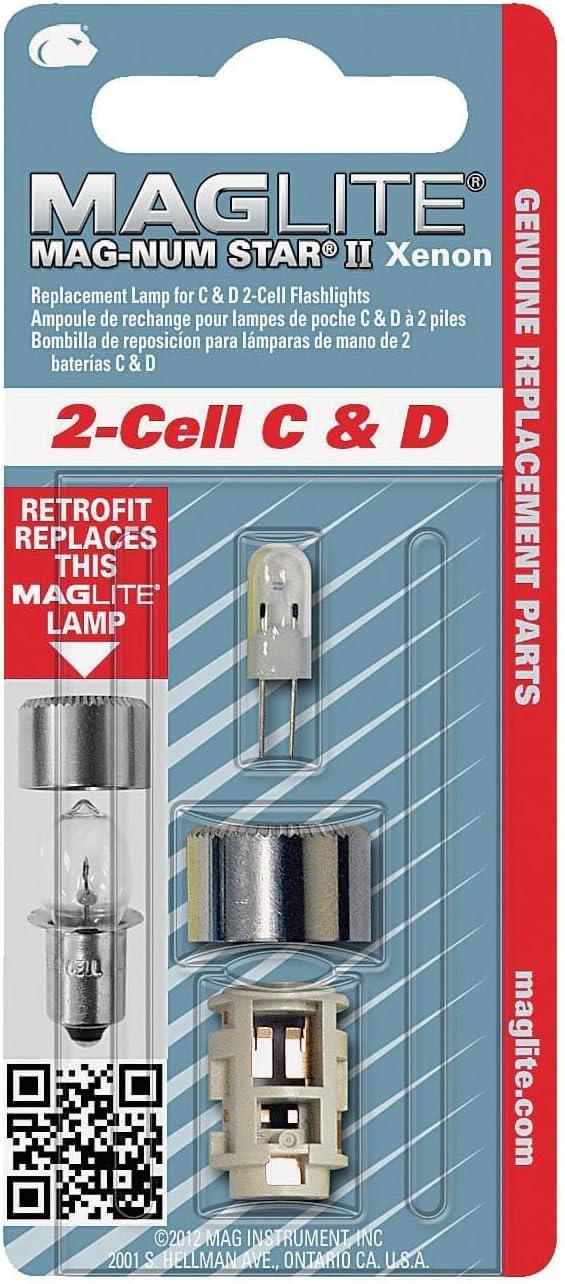 Repuesto Maglite LMXA201 foco para linterna 2 celdas C o D
