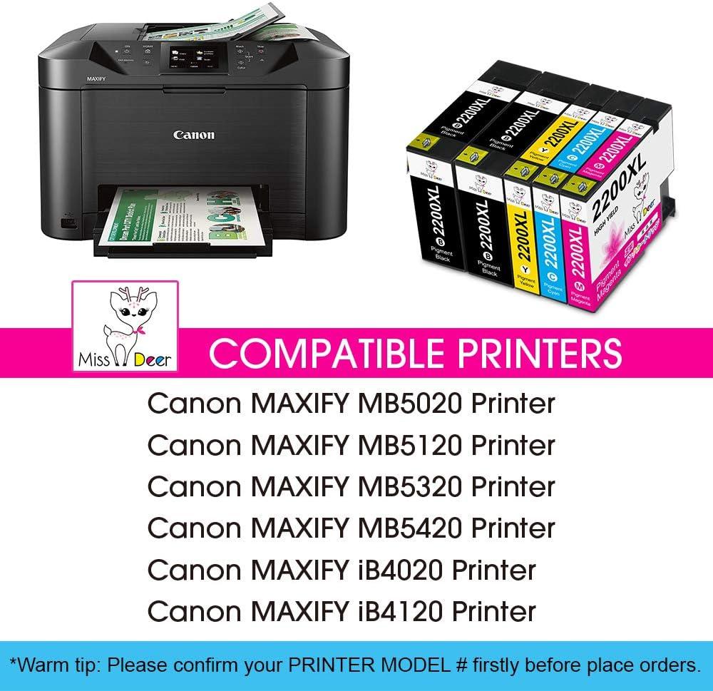 Amazon.com: MS Deer PGI-2200XL - Cartuchos de tinta de ...
