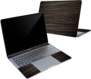 Digi-Tatoo 4-in-1 MacBook Skin Decal Sticker Compatible with Apple MacBook Air 13 Inch 2020/2018 Release (Model A2179/A1932), Full Body Protective, Removable and Anti-Scratch, Wood Texture