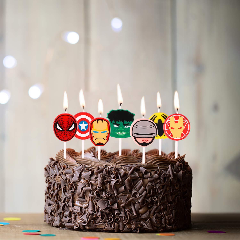 PANTIDE - Velas de superhéroe para decoración de Tartas de ...