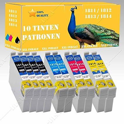 10 x Cartuchos de Tinta Compatible con Epson CET 1811 - 1814 ...