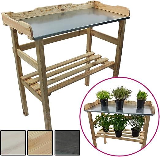 Mesa de madera para jardinería 82 x 78 x 38 cm - Mesa para el ...