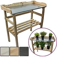 Mesa de madera para jardinería 82 x 78