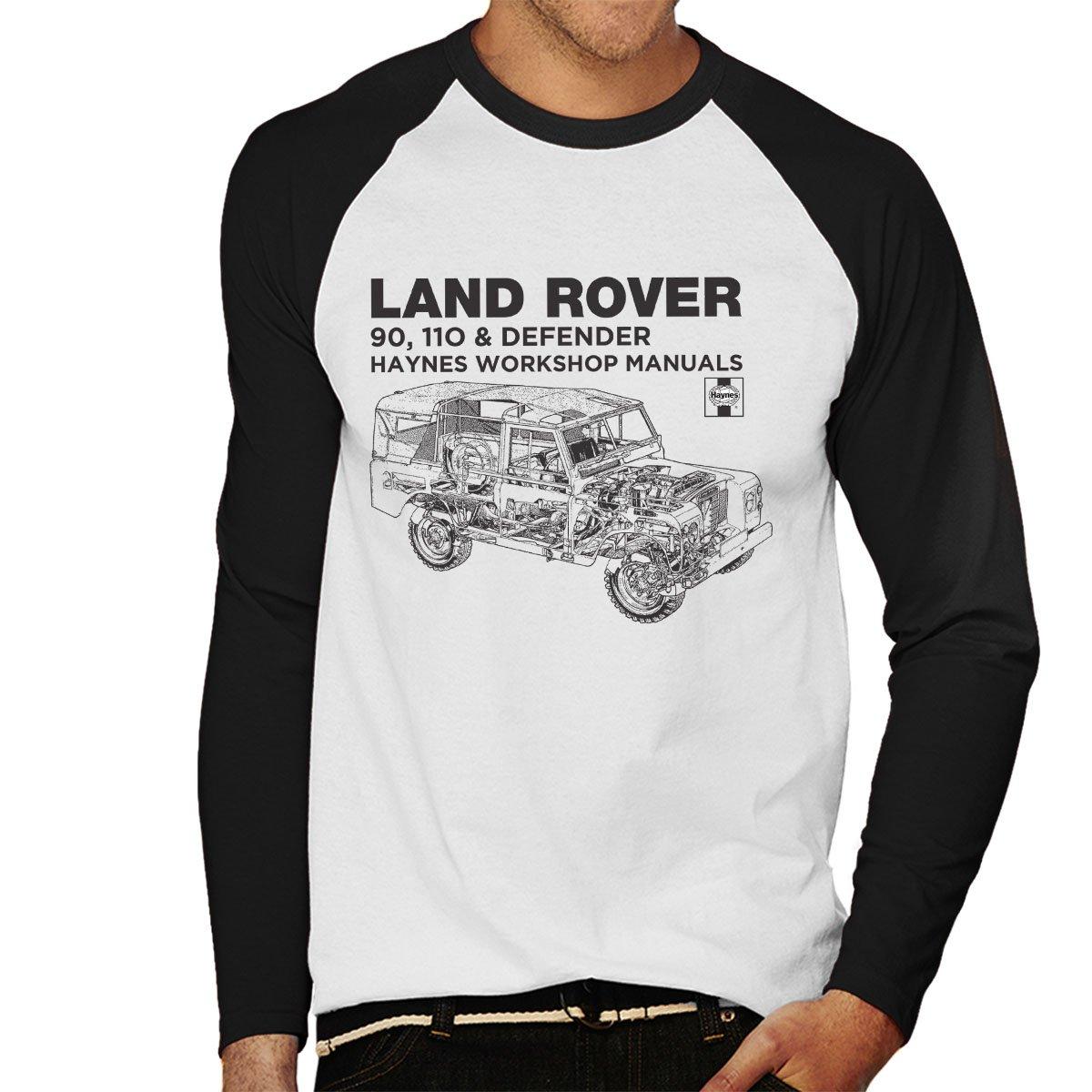 Haynes Owners Workshop Manual Land Rover Defender Black Men's Baseball Long  Sleeved T-Shirt: Amazon.co.uk: Clothing