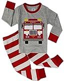 Boys Truck Pajamas Children 100% Cotton 2 Piece Sleepwear Clothes Set