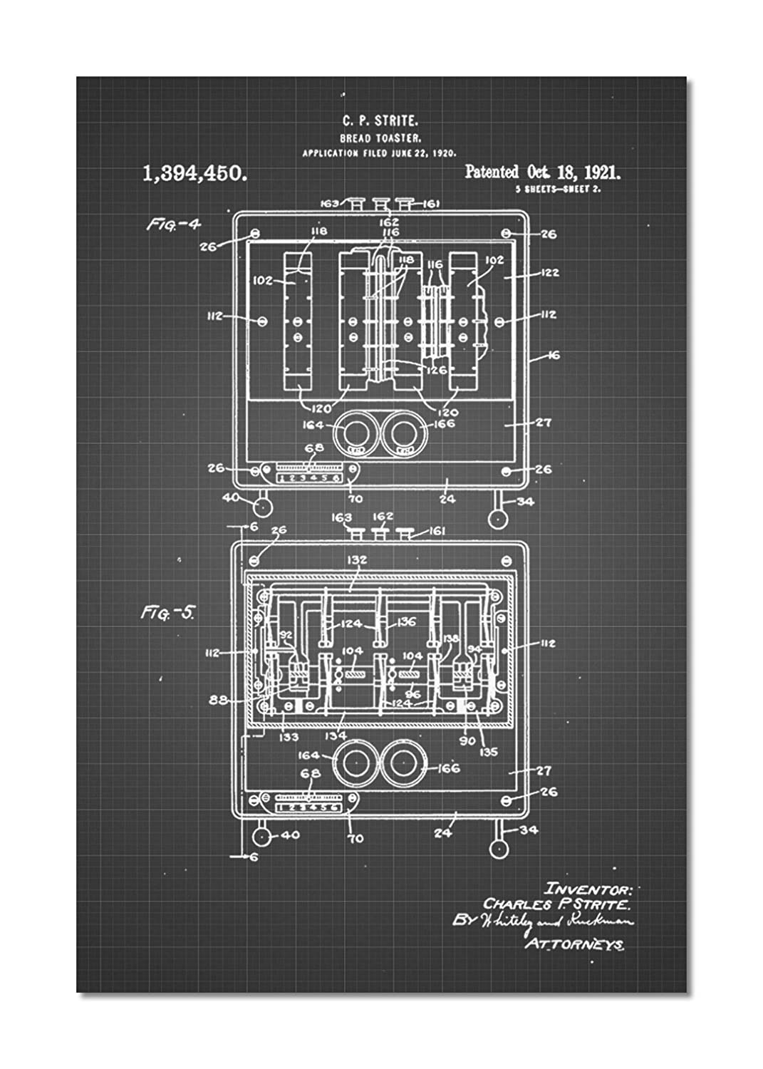 Toastmaster Wiring Diagram Toaster Patent Print Posters Prints