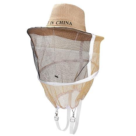 595779cfdcf94 yode sity Apicultor Abejas sombrero con velo Apicultura antimosquitos  Protección Facial Máscara Sombrero